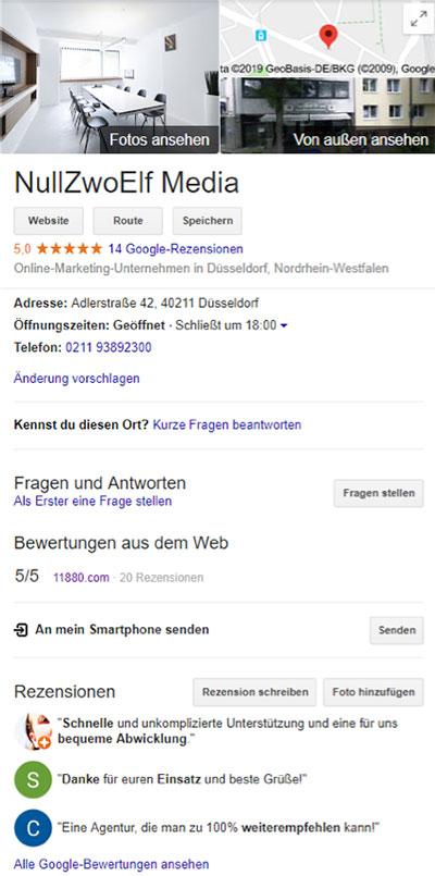 Beispiel Google Suche